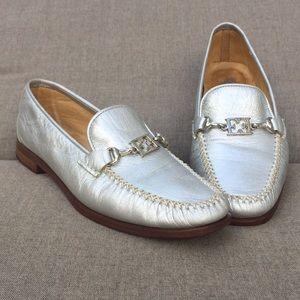 Escada Italian silver loafer(36.5)